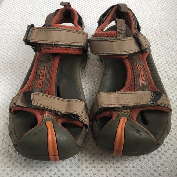 31323bcbf92885 Teva Drain Frame Ginger Toachi Sandals 8.5